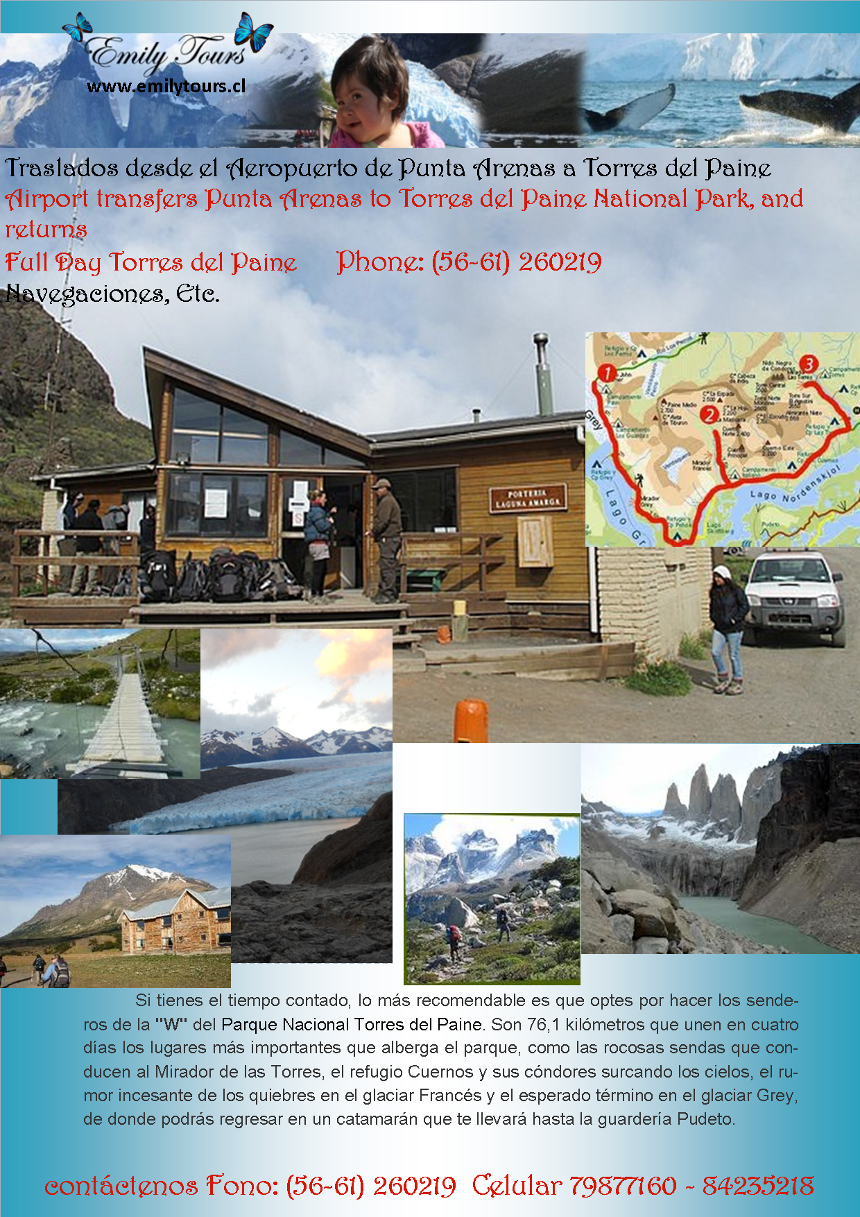 Transfers to torres del paine
