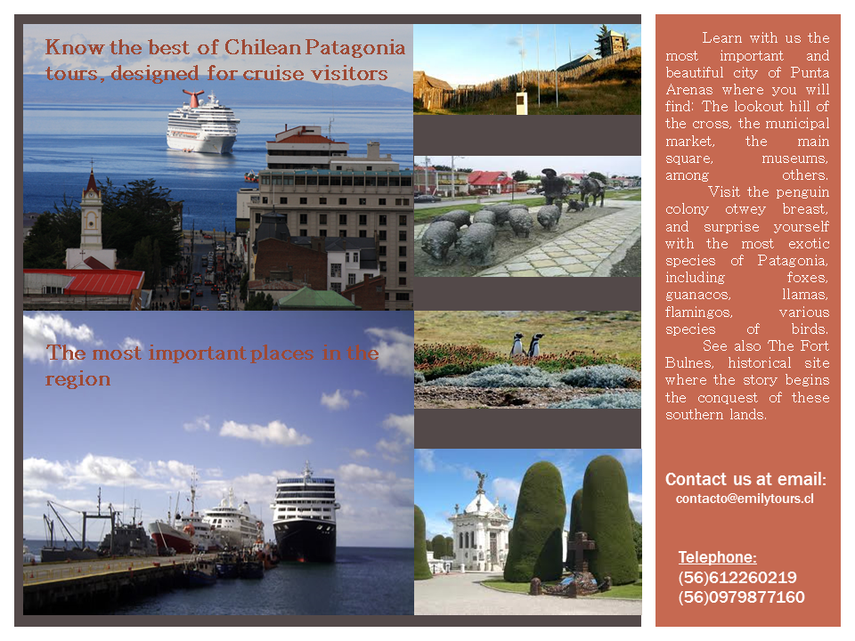Tour and guided tours in the city of Punta Arenas, penguin colony. and historic site of Fort Bulnes
